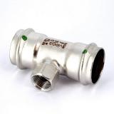 Тройник пресс-В нержавеющая сталь Sanpress Inox VIEGA 35х1/2'х35