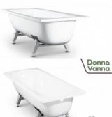 DONNA VANNA Ванна стальная 105x65x36 cм. с опорной подставкой, с рантом, белая орхидея,