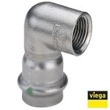Угол пресс-В компактный нержавеющая сталь Sanpress Inox VIEGA 22х1'