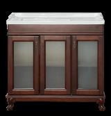 Мебель для ванной Misty Дублин - 90 Тумба прямая, орех/стекло