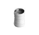 STOUT Элемент дымохода соединительный адаптер внутренний для труб DN80 п/п
